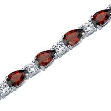 Perfect Allure Pear Shape Gemstone Bracelet in Sterling Silver