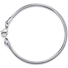 Effortless Style Unisex Stainless Steel Snake Chain Bracelet