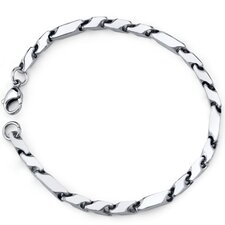 Exclusive Style Mens Stainless Steel Fancy 3D Arrow Link Bracelet