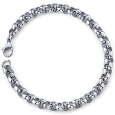 Cool and Classy Mens Stainless Steel Rolo Link Bracelet