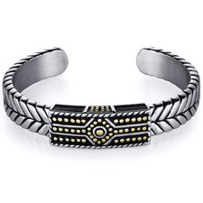 Mens Tribal design Stainless Steel Cuff Bracelet