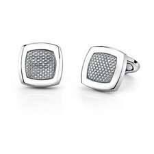 Stainless Steel Cushion Shape Geometrical Pattern Cufflinks for Men