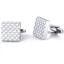 Handsome and Genteel Stainless Steel Checkerboard Square Cuff-links for Men