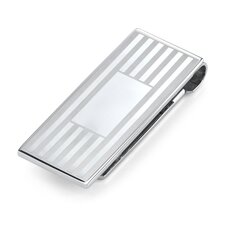 Personalized Elegance Surgical Stainless Steel Brushed Finish Money Clip