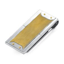 Royal Flush Surgical Stainless Steel Brushed and Gold Finish Money Clip