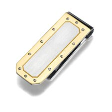 Stainless Steel Two tone Brush finish Money Clip for Men