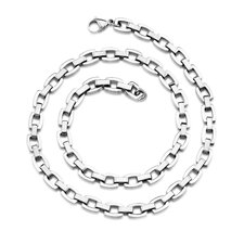 Heavy Duty Double Link Mens Stainless Steel Necklace