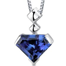 Superman Cut 6.25 Carats Alexandrite Pendant in Sterling Silver
