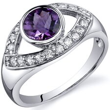 Captivating Curves 1.00 Carats Ring in Sterling Silver