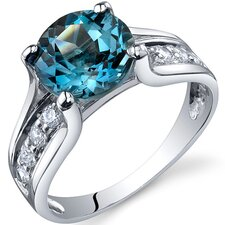 Solitaire Style  2.75 Carats Ring in Sterling Silver