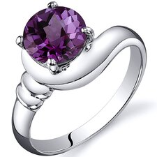 Smooth Seduction 1.75 carats Solitaire Ring in Sterling Silver