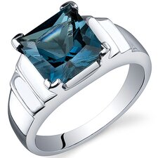Step Design Princess Cut 3.25 carats Ring in Sterling Silver