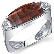 Radiant and Seductive 3.00 Carats Barrel Cut Ring in Sterling Silver