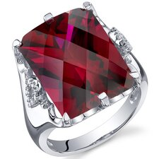 Royal Marvel 16.00 Carats Radiant Cut Ring in Sterling Silver