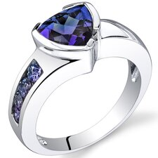 2.75 carats Trillion Cut Ring in Sterling Silver