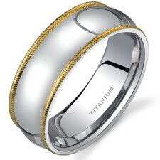 Classic Comfort fit 8 mm Mens Titanium Wedding Band