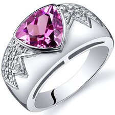 Glam Trillion Cut 1.50 Carats Cubic Zirconia Ring in Sterling Silver