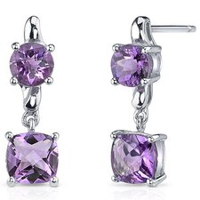 <strong>Oravo</strong> Cushion Cut Gemstone Earrings