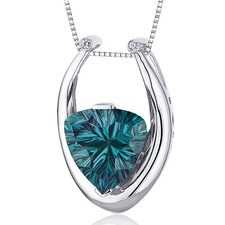 Concave Trillion Cut Gemstone Pendant