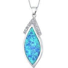 Opal Marquise Pendant
