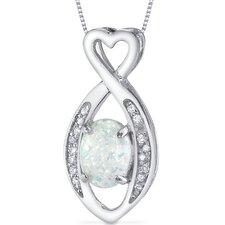Opal Oval Heart Pendant