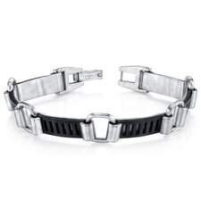 Men's Urban Class Matte Finish Stainless Steel Bracelet