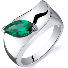 Musuem Style 1 Carat Marquise Cut  Emerald Ring