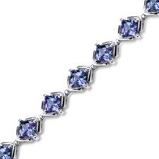 Princess Cut Alexandrite Link Bracelet