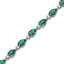 Pear Shape Emerald Link Bracelet