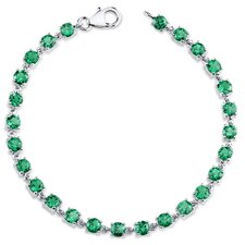 Round Cut Emerald Tennis Bracelet