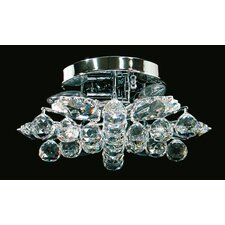 Grenoble 3 Light Crystal Flush Light