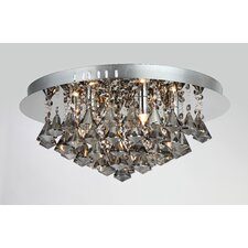 Parma 6 Light Crystal Flush Light