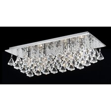 Parma 6 Light Crystal Flush Light