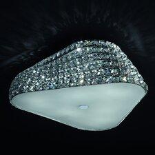 Tia 6 Light Crystal Flush Mount