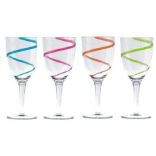 Spiral 4 Piece Stem Tumbler Set (Set of 4)