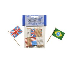 15 Piece Cocktail Flag Sticks Set (Set of 15)