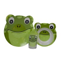 Friendly Faces 3 Piece Children's Frog Dinner Set