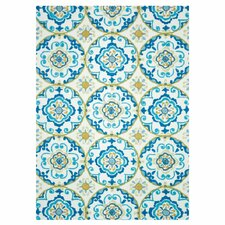 Juliana Ivory/Blue Area Rug