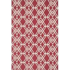 Felix Geometric Red/Ivory Rug
