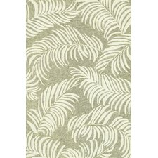 Tropez Sage/Ivory Tropical Inspired Indoor/Outdoor Rug