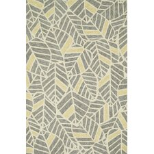 Tropez Grey/Gold Tropical Inspired Indoor/Outdoor Rug