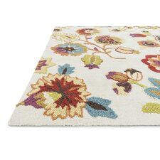 Juliana Floral Ivory Area Rug