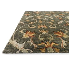 Fulton Charcoal Floral Area Rug