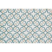 Francesca Ivory/Teal Geometric Rug