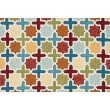 Francesca Red/Multi Geometric Rug