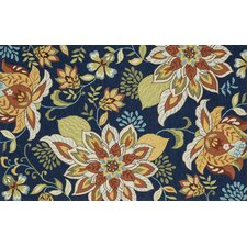 Francesca Blue Floral Area Rug