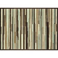 Halton Brown Striped Area Rug