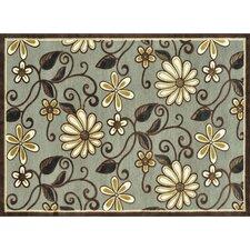 Halton Grey Floral Area Rug