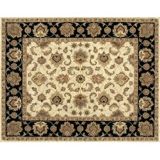 Maple Ivory / Black Rug