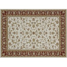Welbourne Ivory / Red Rug